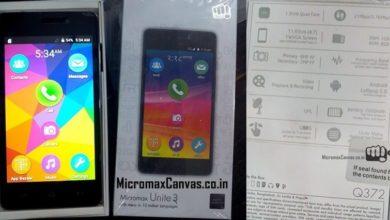 Photo of Micromax Unite 3 Q372 Android 5.0 Lollipop Phone Specs Price