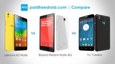 Photo of Lenovo K3 Note vs Xiaomi Redmi Note 4G vs Yu Yureka: Specs Comparison