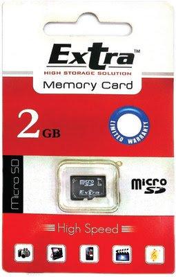 Extra MicroSDHC 2 GB Class 4