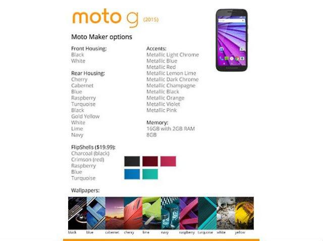 Moto G 3rd gen Leaks