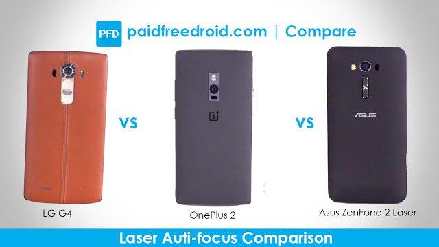 LG G4 vs OnePlus 2 vs Asus Zenfone 2 Laser: Laser Auto-focus Comparison