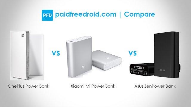 OnePlus vs Xiaomi vs Asus Power Banks: Specs Comparison