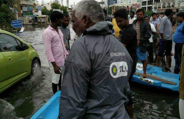 Ola boatmen helping out in Chennai