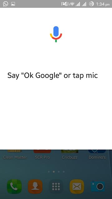 Working Ok Google