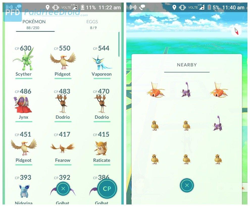 Footprints Removed in Pokemon GO