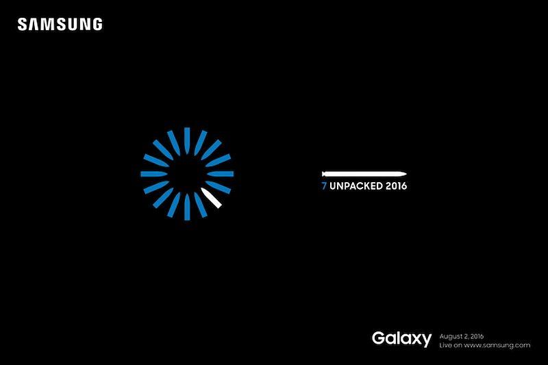 Samsug Galaxy Note 7 Unpacked On August 2