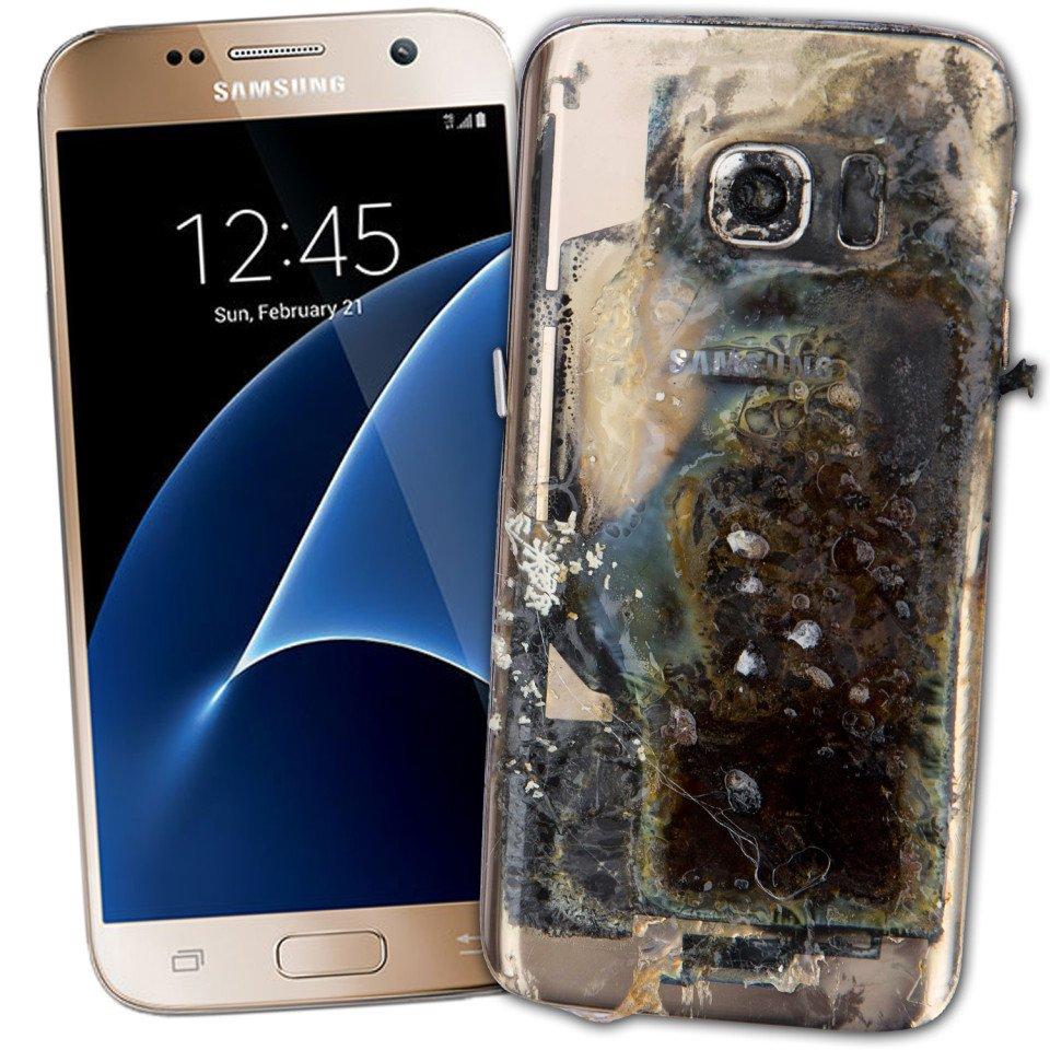 Samsung Galaxy Note 7 Explodes