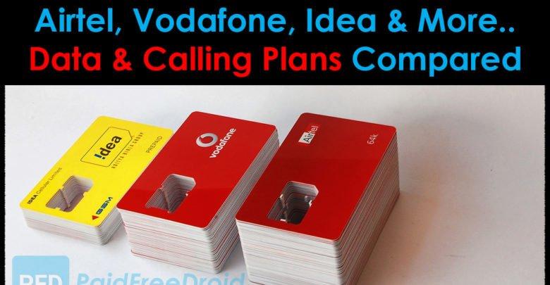 Airtel, Vodafone, Idea Plans Compared