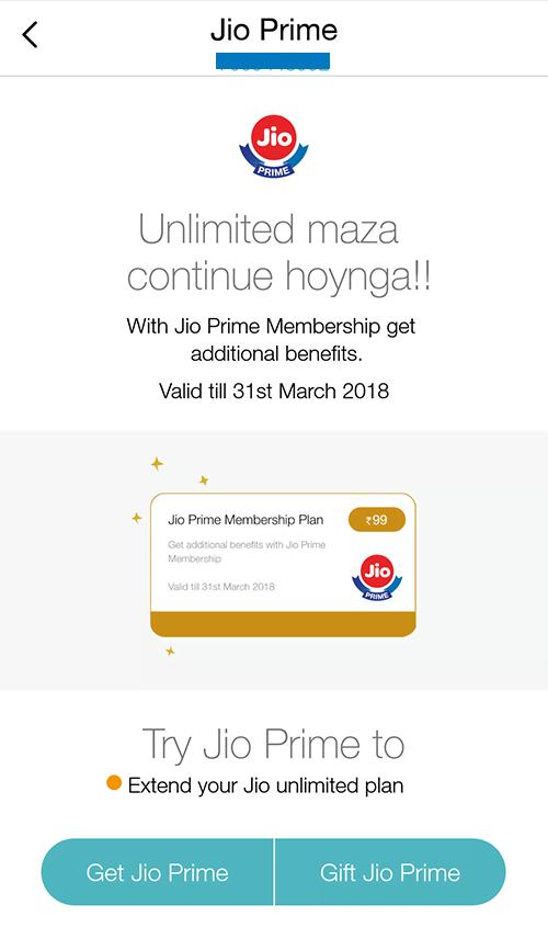 Jio Prime MyJio App