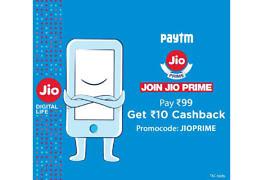 Jio Prime Paytm