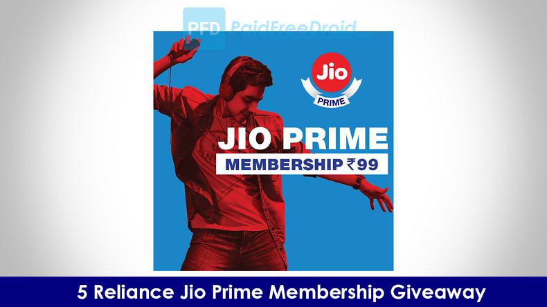 5 Reliance Jio Prime Membership Giveaway