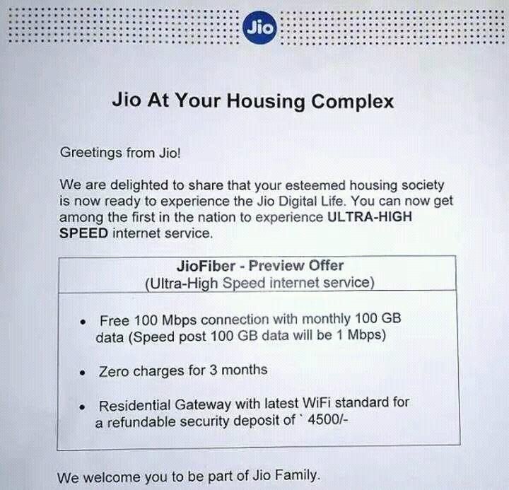 JioFiber Plans