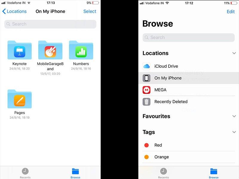 iOS 11 Files
