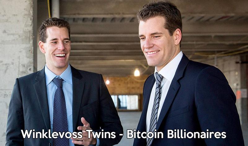 Winklevoss Twins Bitcoin Billionares