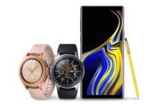 Samsung Galaxy Note 9 with Samsung Galaxy Watch