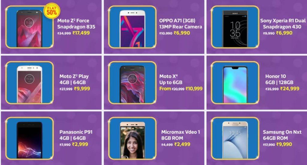 Flipkart Big Billion Days Mobile Offers Sale Deals 2018