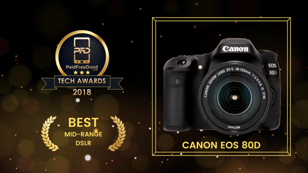 Best Mid-Range DSLR - Canon EOS 80D