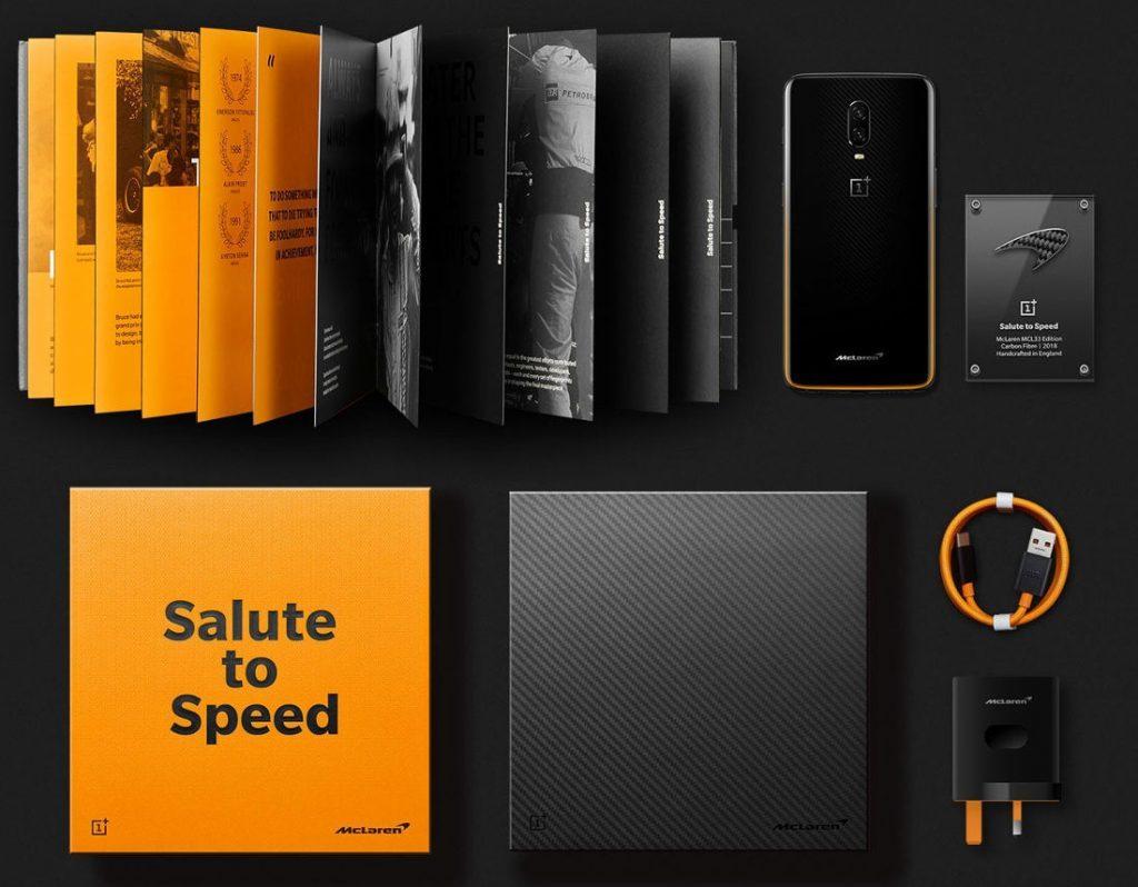 OnePlus 6T McLaren Edition Box Content