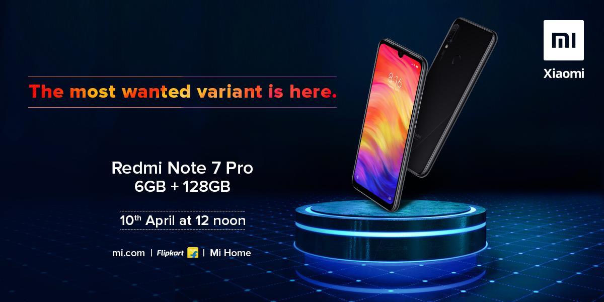 Redmi Note 7 Pro 6GB RAM variant sale