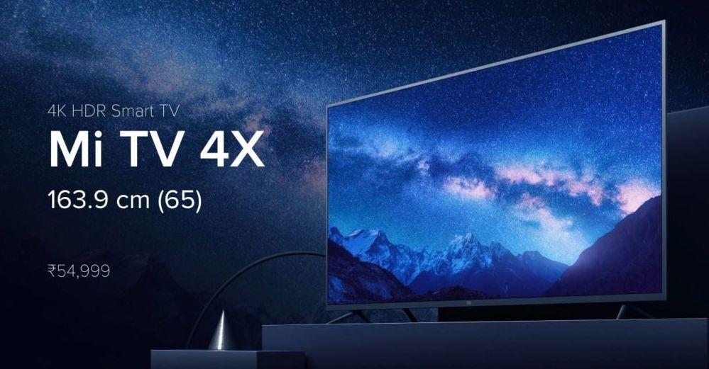 Xiaomi Mi TV 4X 65-inch Launched