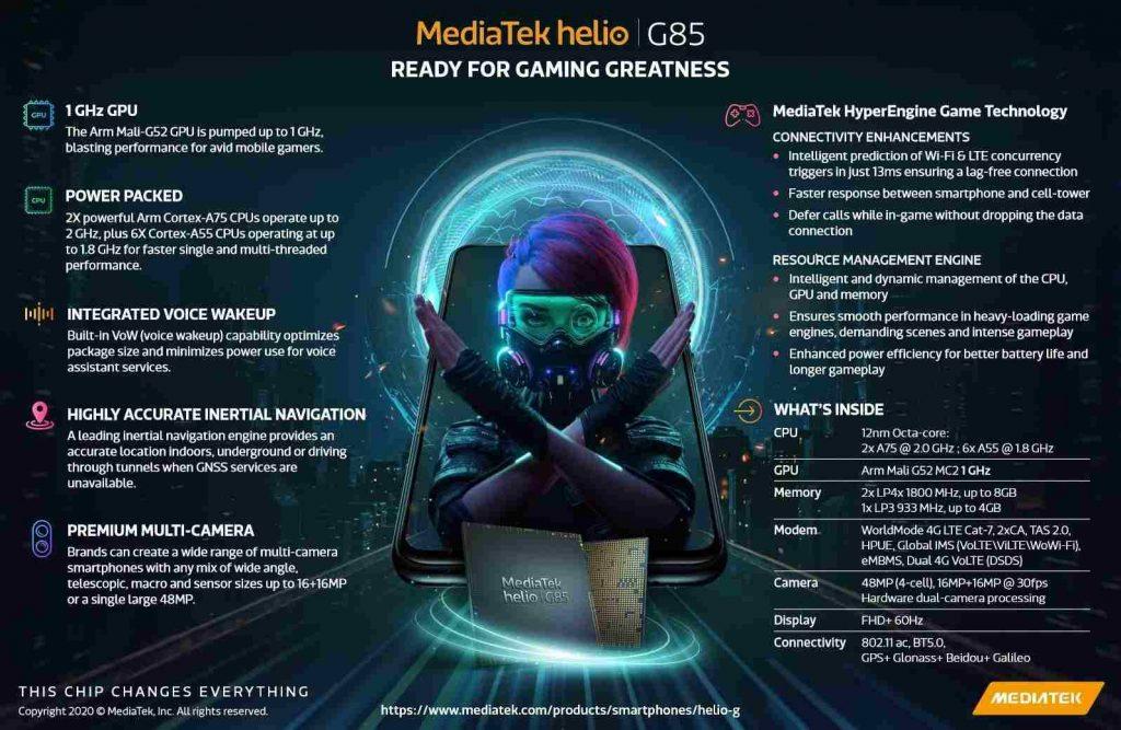 MediaTek Helio G85 Features