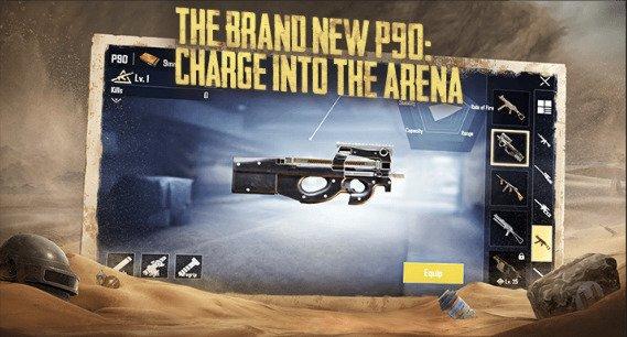 PUBG Mobile 0.18.0 update p90 gun