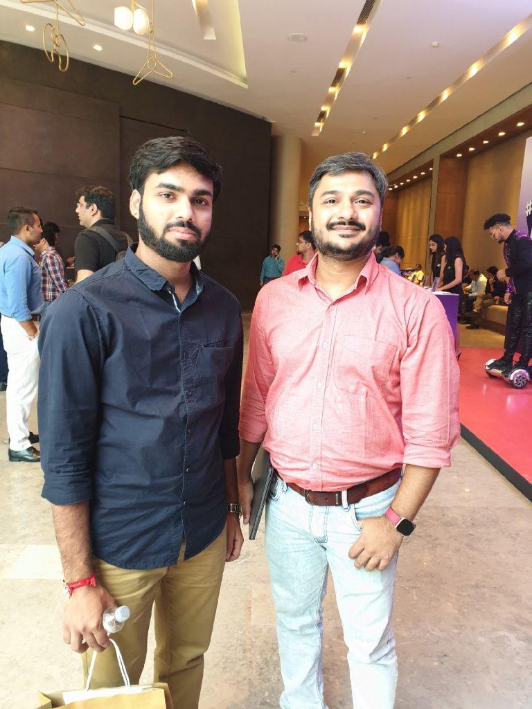 Shubham Mishra With Abhishek Telang