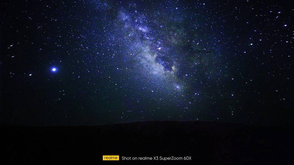Realme X3 SuperZoom Starry Mode