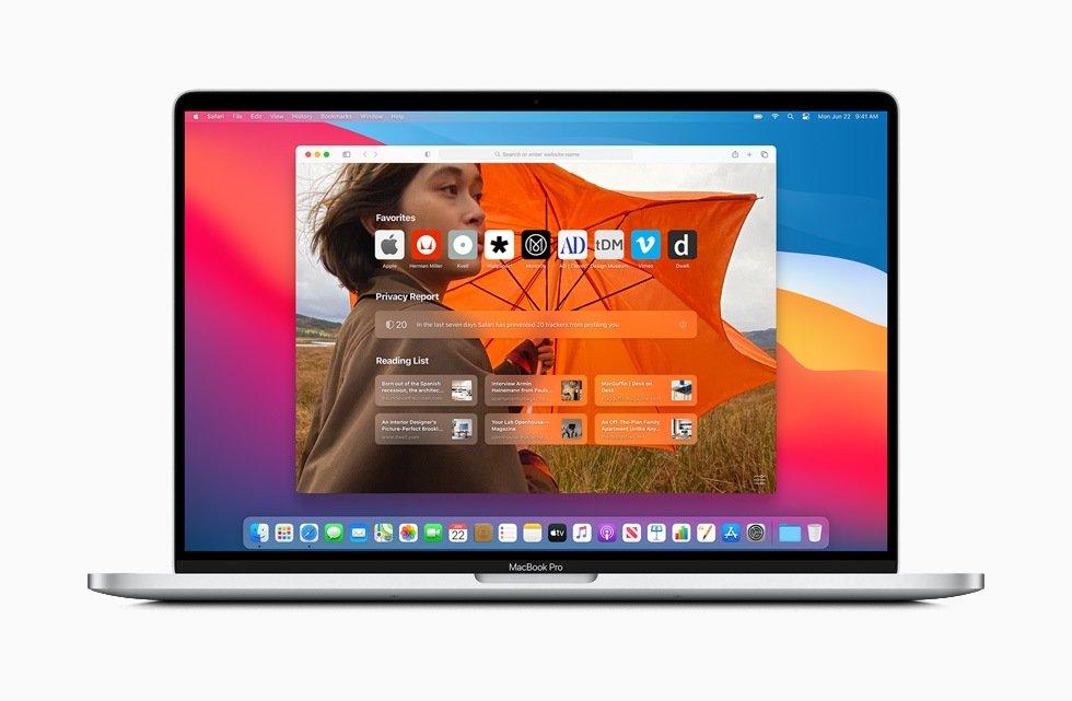 macOS Big Sur Safari