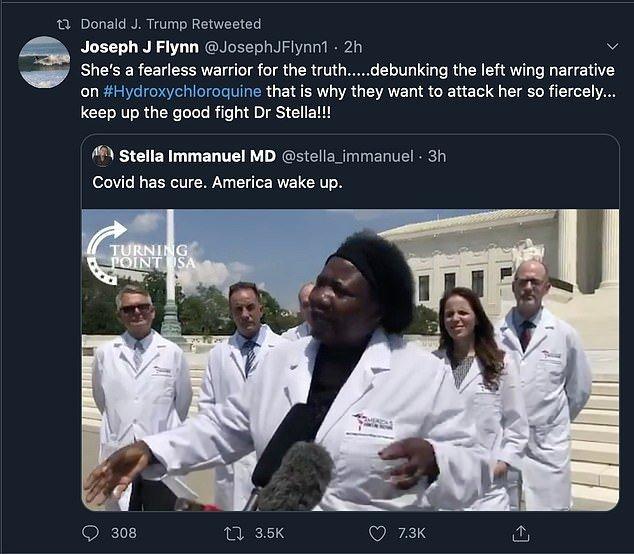 Donald Trump Stella Immanuel Tweet