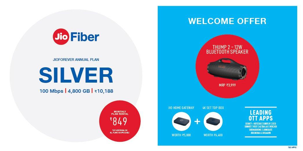 JioFiber Silver