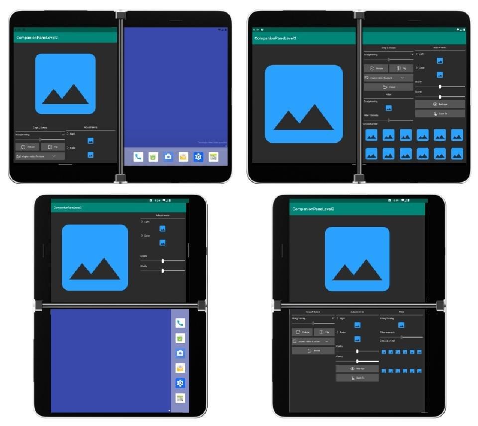 Microsoft Surface Duo UI Options