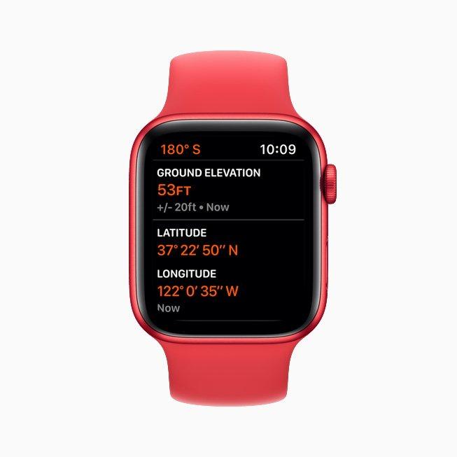 Apple Watch Series 6 Altimeter