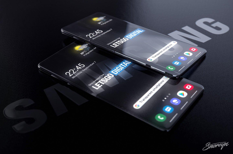 Samsung Transparent Phone