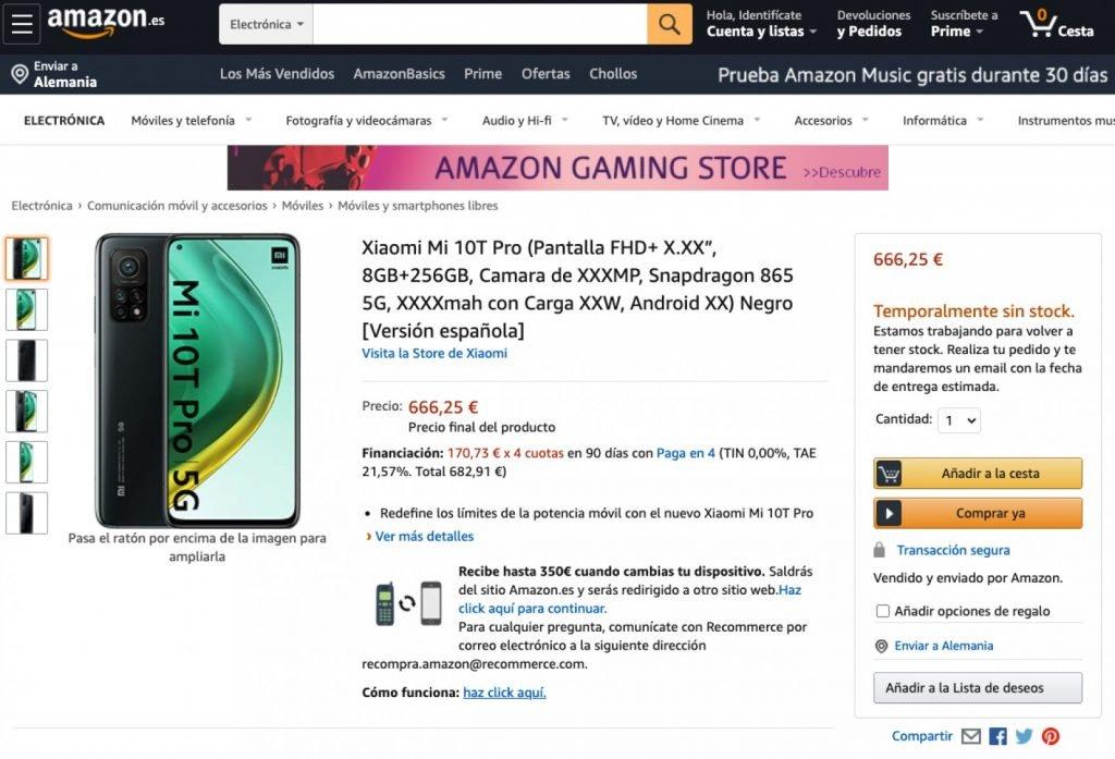 Xiaomi Mi 10T Series Amazon