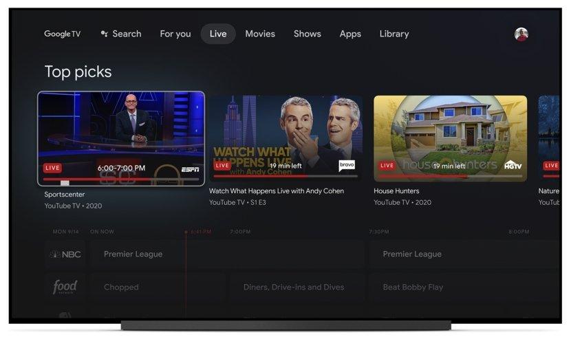 Google TV Live