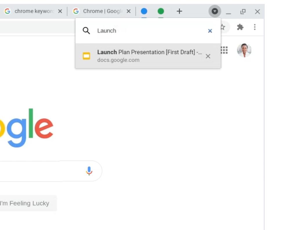 Google Chrome Tab Search