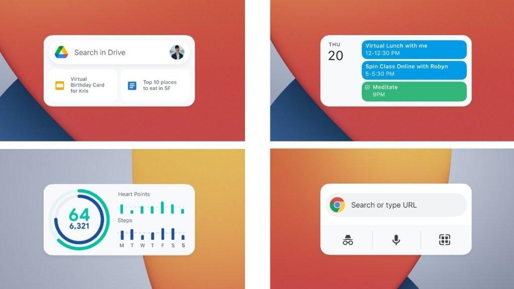 Google Widgets iOS14