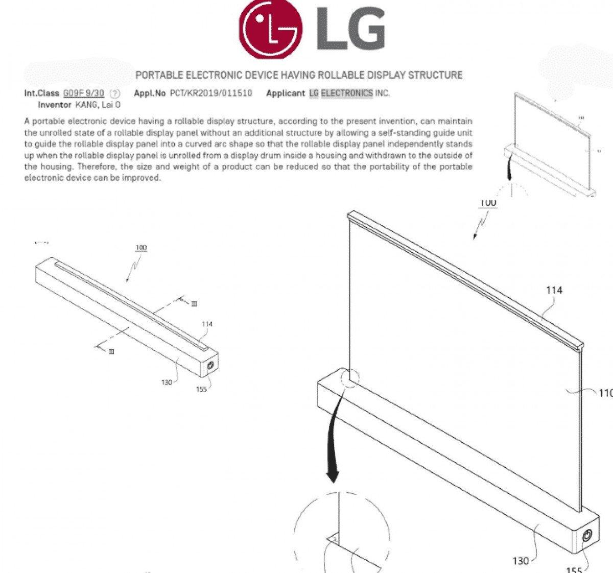 LG Rollable Laptop Patent 1