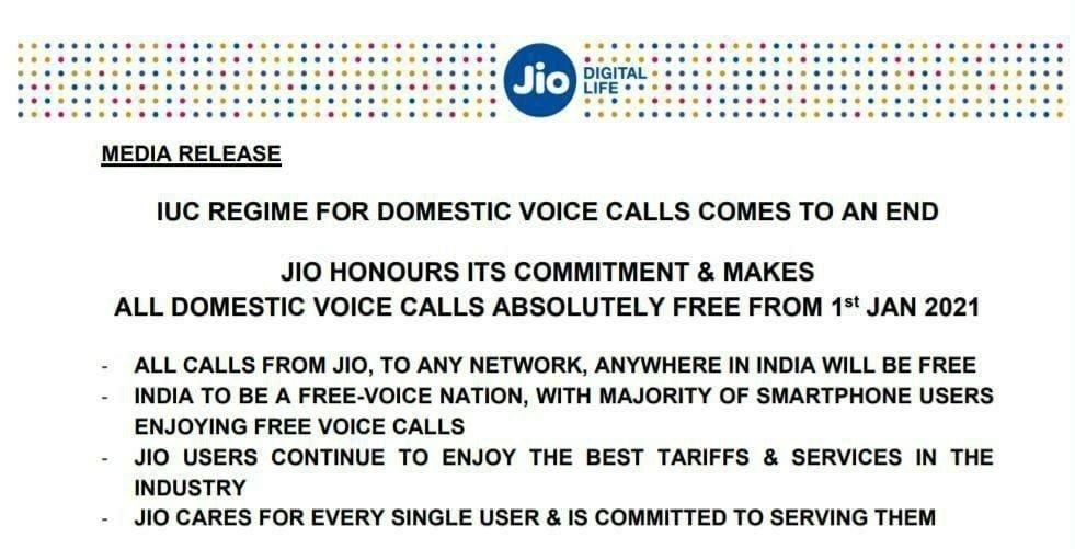 Jio Voice Calling