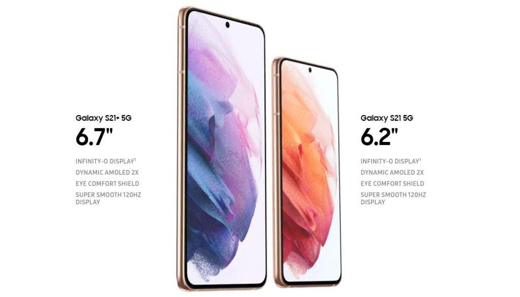 Galaxy S21 5G and Galaxy S21 Plus 5G Display