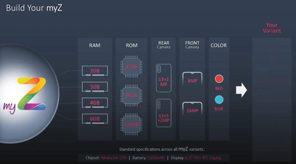 Lava myZ options