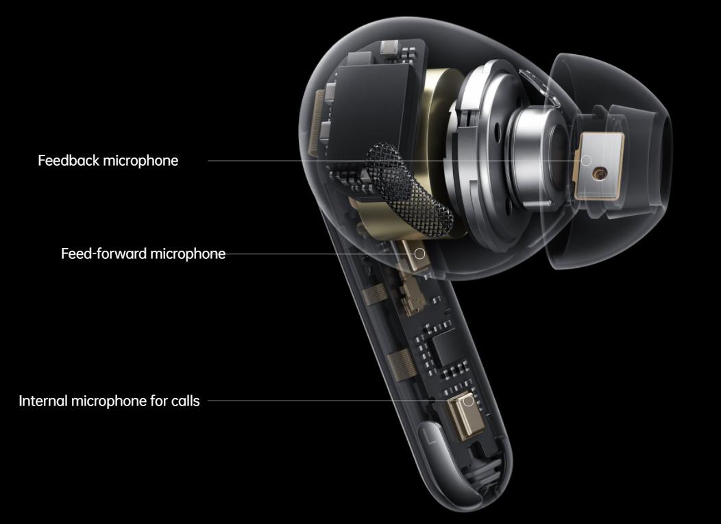 Oppo Enco X TWS Microphones