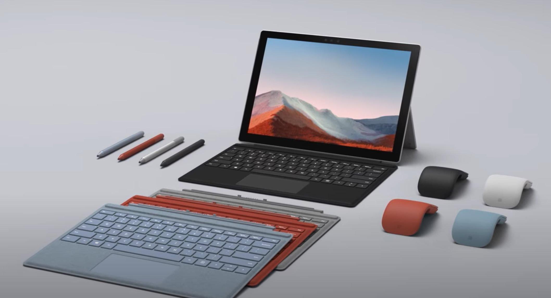 Microsoft Surface Pro 7+ & Microsoft Surface Hub 2S 85-inch