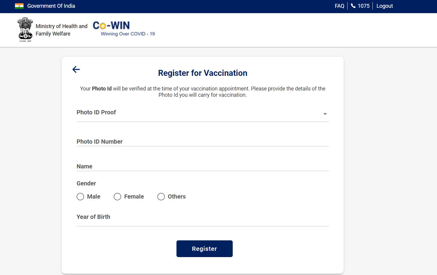 CoWIN Website 3