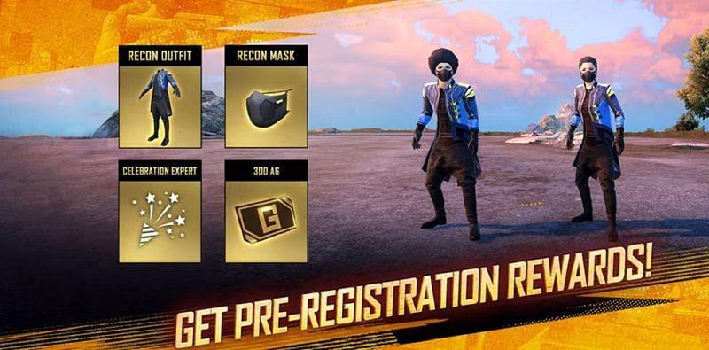 Battlegrounds Mobile India Pre-Registration Rewards