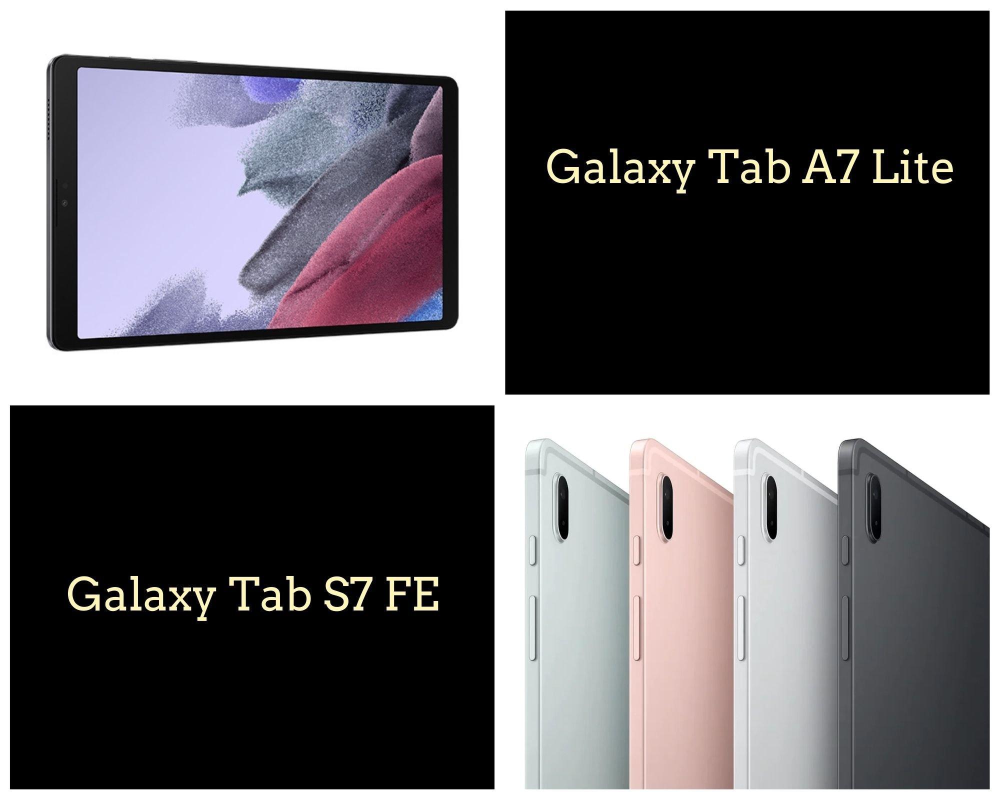 Galaxy Tab S7 FE And Galaxy Tab A7 Lite