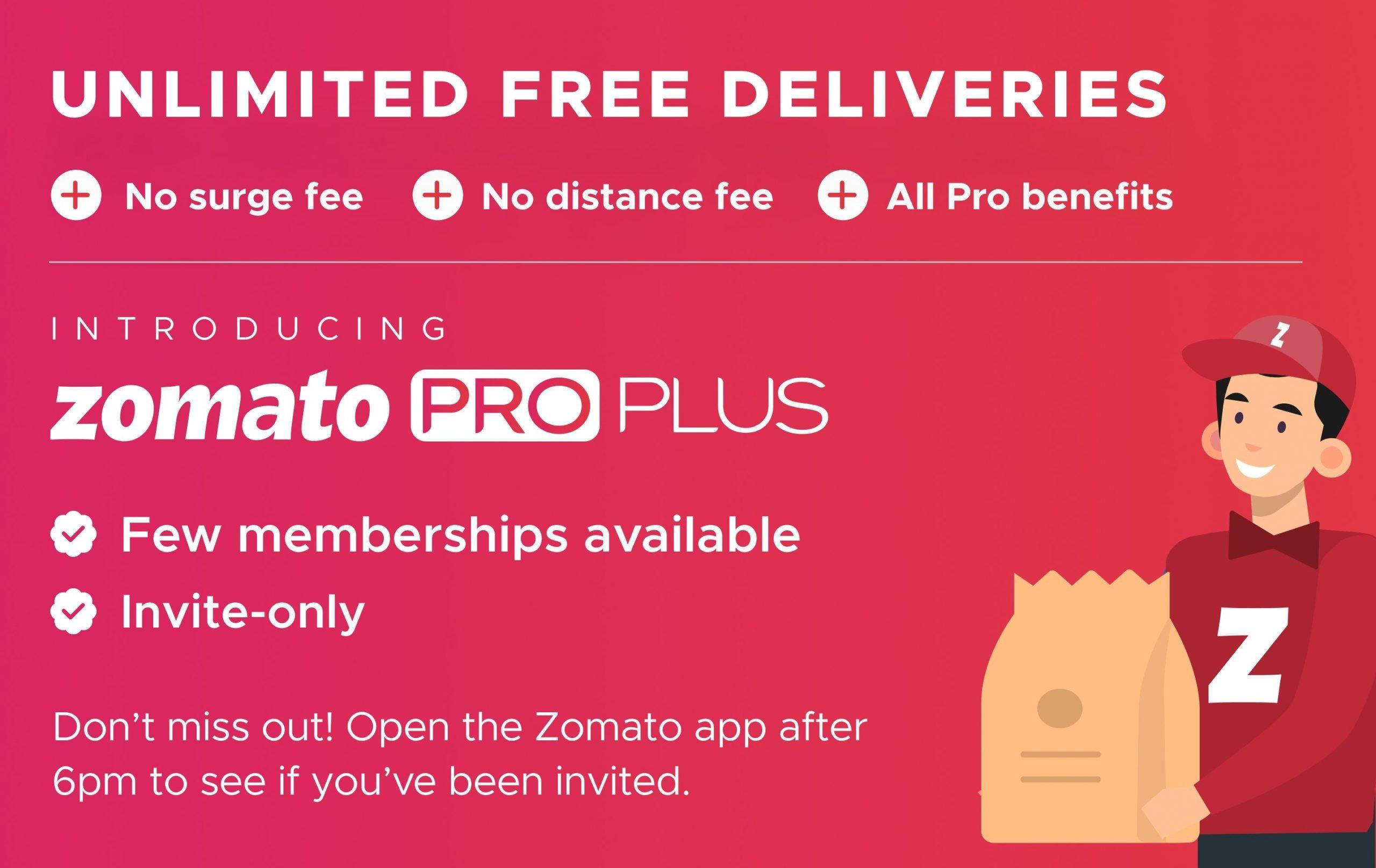 Zomato Pro Plus Membership